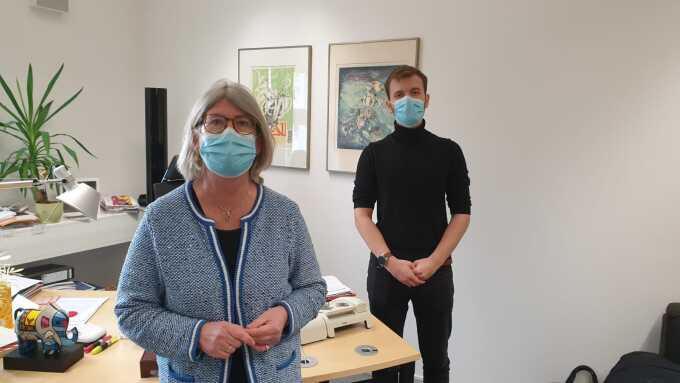 Simon Gevers mit MdB Britta Dassler